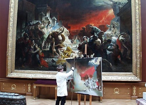 Копирование картины в музее