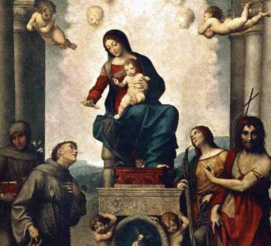 Мадонна со святым Франциском А. Корреджо (фрагмент) 1514
