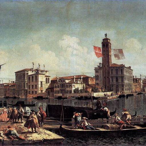 The Grand Canal with the Palazzo Labia and Entry to the Cannareggio