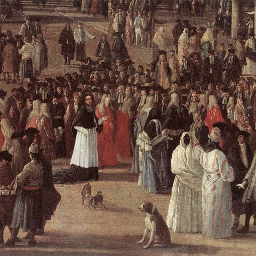 The Reception of Cardinal Cйsar d'Estrйes (detail)