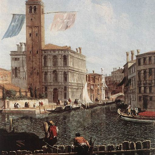 The Grand Canal with the Fishmarket (detail)