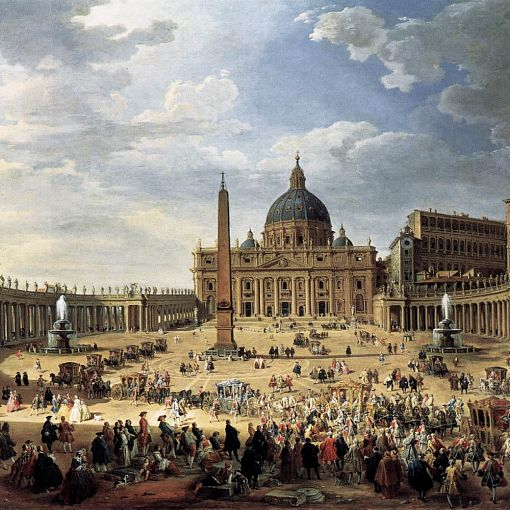 Departure of the Duc de Choiseul from the Piazza di San Pietro