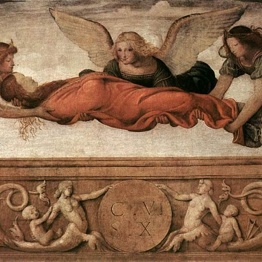 St Catherine Carried to her Tomb by Angels