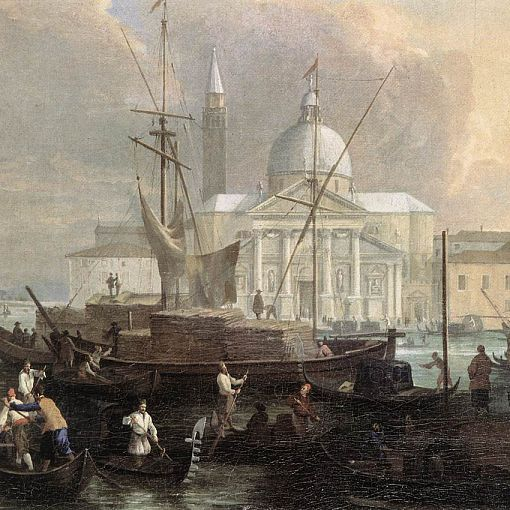 The Sea Custom House with San Giorgio Maggiore (detail)