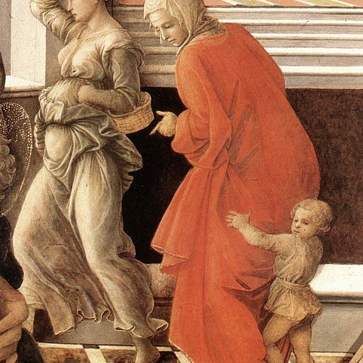 Virgin with the Child and Scenes from the Life of St Anne (detail)