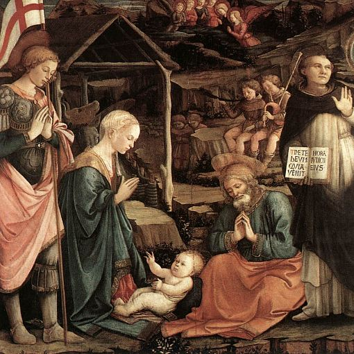 Adoration of the Child with Saints 1